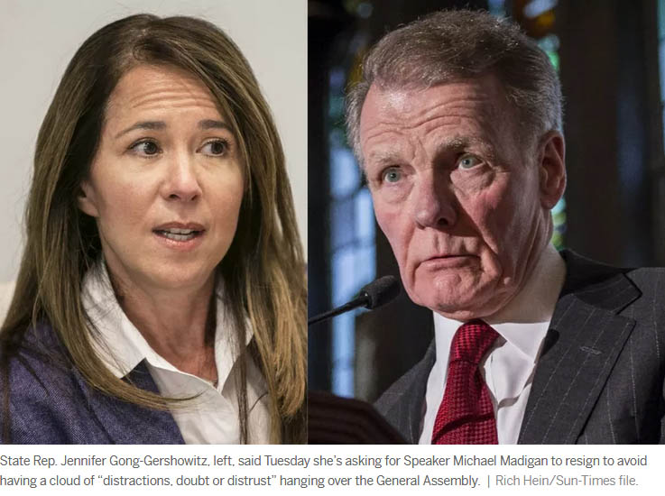 Seventh House Democrat calls on Madigan to hand over speaker's gavel now: 'It's the right thing to do'