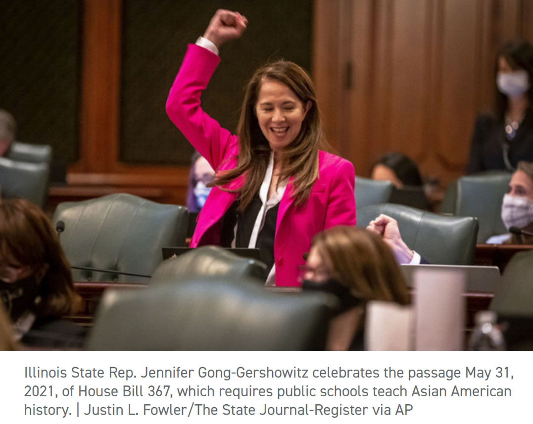 Nation's first school mandate on AAPI history heads to Illinois governor